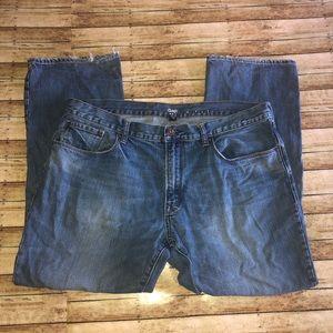 Gap Distressed Low Rise Bootcut Jeans Sz 38x30